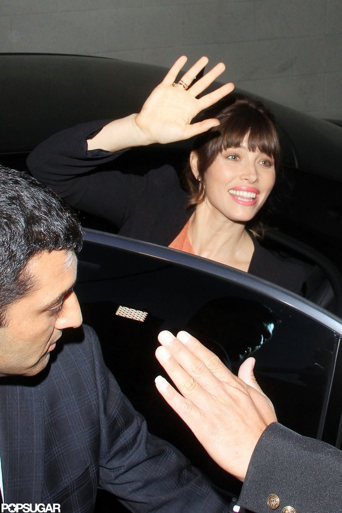 Jessica Biel waved to fans in LA.