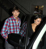 Ashton Kutcher and Mila Kunis were out for dinner.