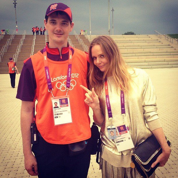 Stella McCartney showed off her official Olympic credentials. Source: Instagram User stella_mccartney