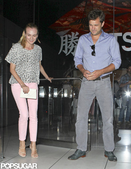 Joshua Jackson and Diane Kruger dined at Katsuya together.