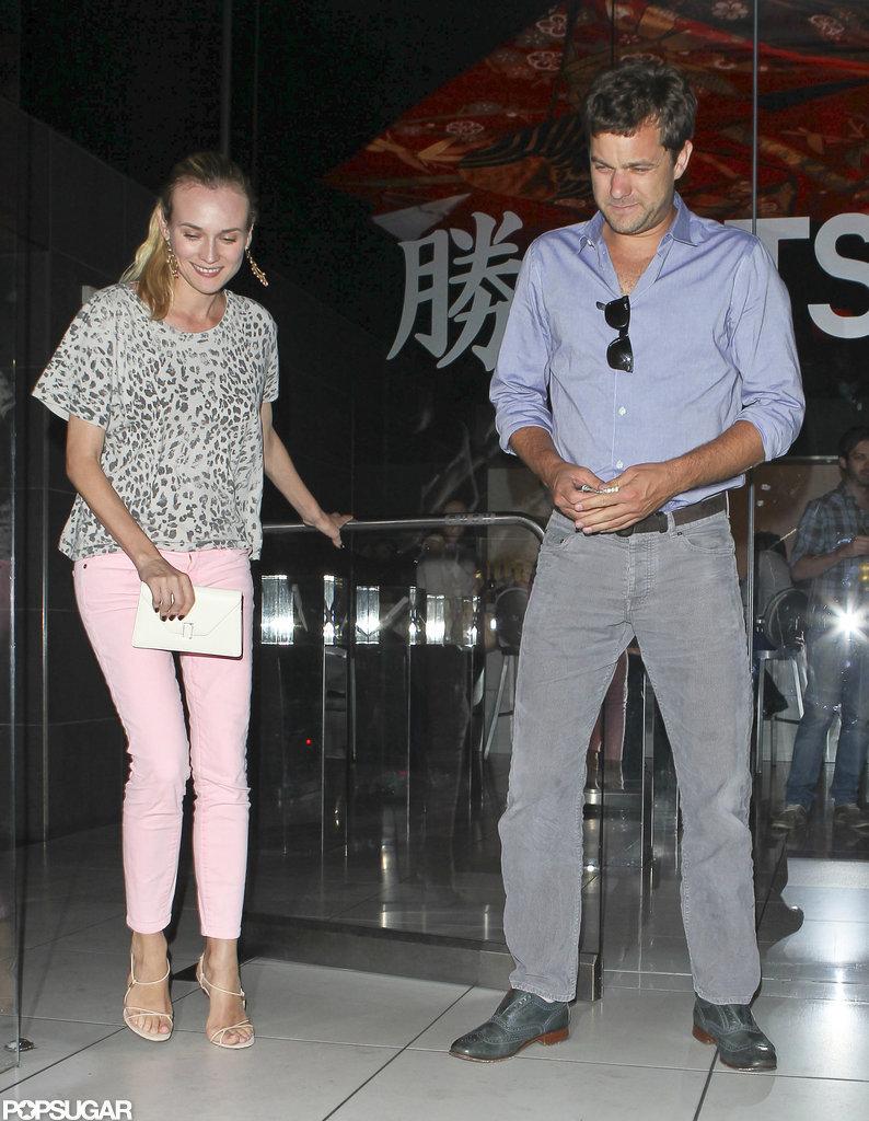 Joshua Jackson and Diane Kruger dined at Katsuya together.