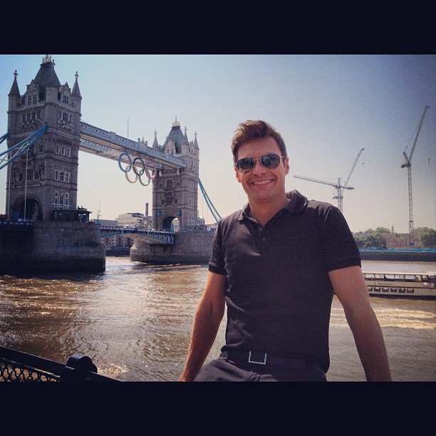 Ryan Seacrest is working as an NBC correspondent during the Olympics. Source: Instagram user ryanseacrest