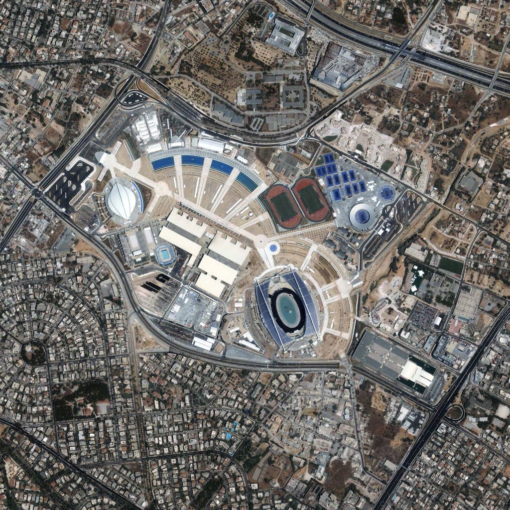 The Athens Olympic Sports Complex as seen from space.