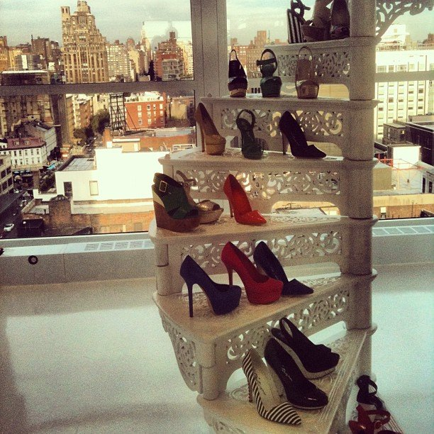 Stairway to shoe heaven, courtesy of Alice + Olivia.
