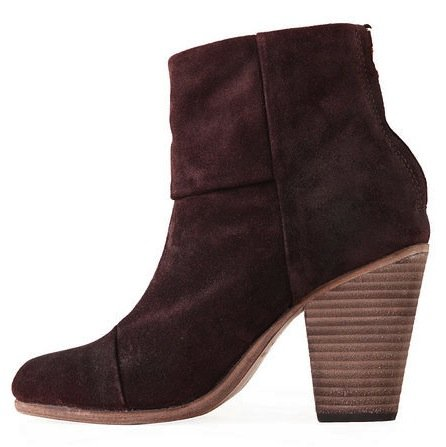 The ultimate downtown ankle-cut boot in a wine-colored suede perfect for the changing seasons. Rag & Bone Classic Newbury Boot ($495)