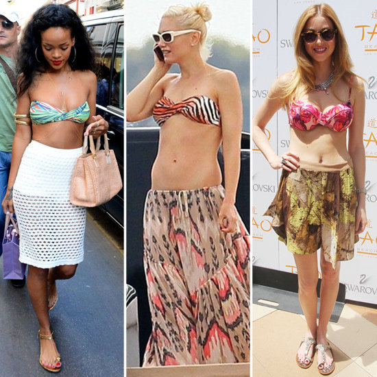 These bikini-top-and-skirt combos are celeb-approved.