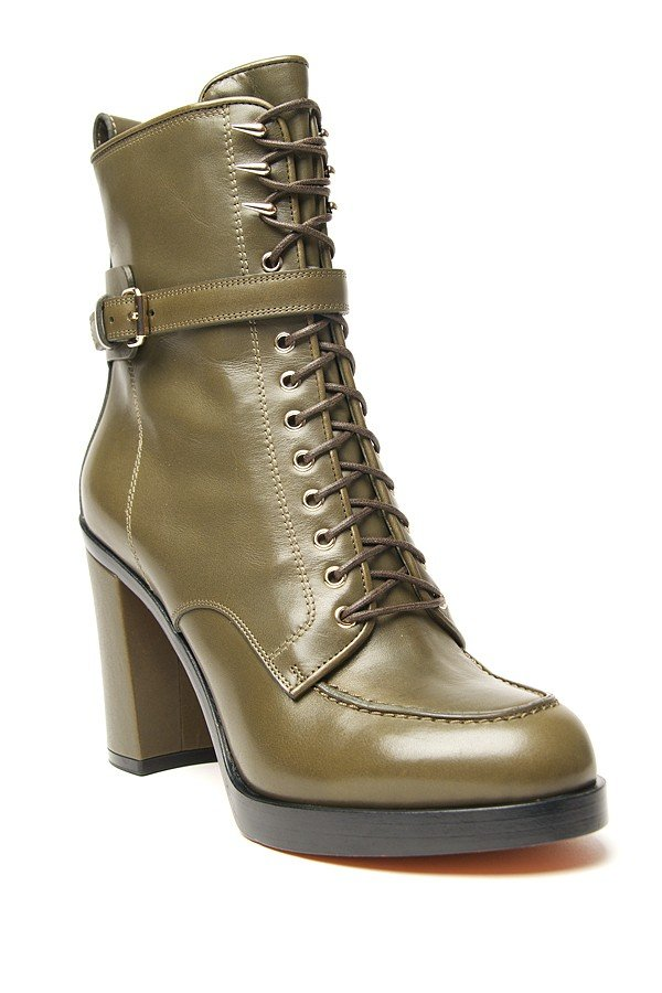 Our new favorite take on the traditional military-inspired boot silhouette. Givenchy Lace-Up Boot ($1,295)