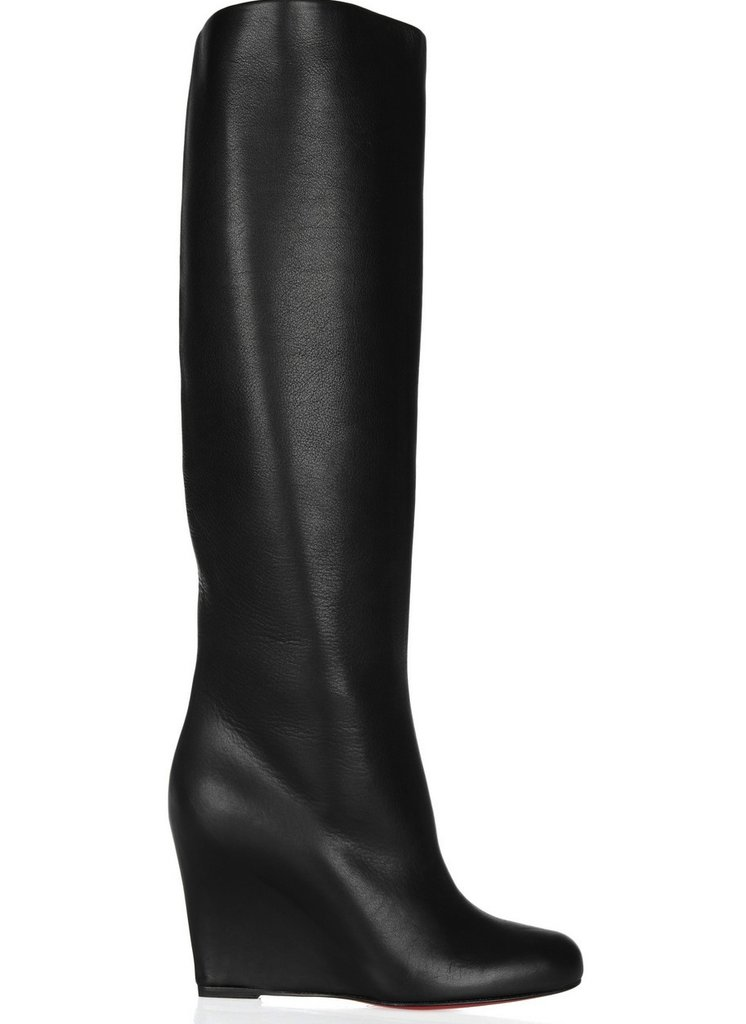 Instead of the knee-high stiletto boot, we're coveting this sleek wedge version, which looks a lot more comfortable to trek around in. Christian Louboutin Zepita 85 Leather Wedge Boots ($1,895)