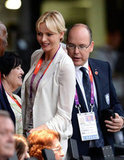 Prince Albert II of Monaco and Princess Charlene of Monaco attended the opening ceremony.