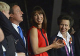 David and Samantha Cameron were joined by Princess Anne.