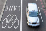 A special lane for Olympic vehicles was added ahead of the London Games.