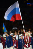Maria Sharapova held the Russian flag.