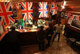 A pub in Notting Hill decorated itself with Union Jack flags.