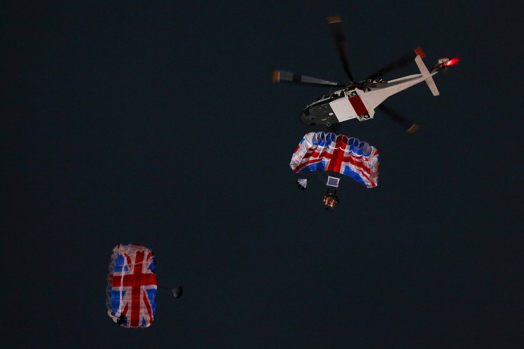 The queen took part in a film with James Bond himself, Daniel Craig, ending with an arrival via helicopter.