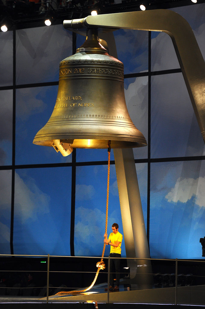 Bradley Wiggins, the first British Tour de France winner, rang the bell.