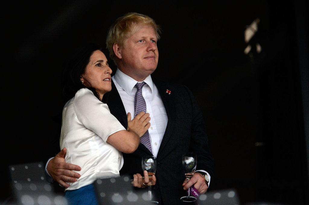 London Mayor Boris Johnson and his wife Marina Johnson enjoyed the atmosphere.