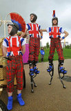 Members of the National Youth Theatre of Britain welcomed athletes at the Olympic Village.