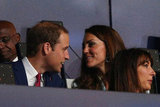 Will and Kate chatted during the festivities.