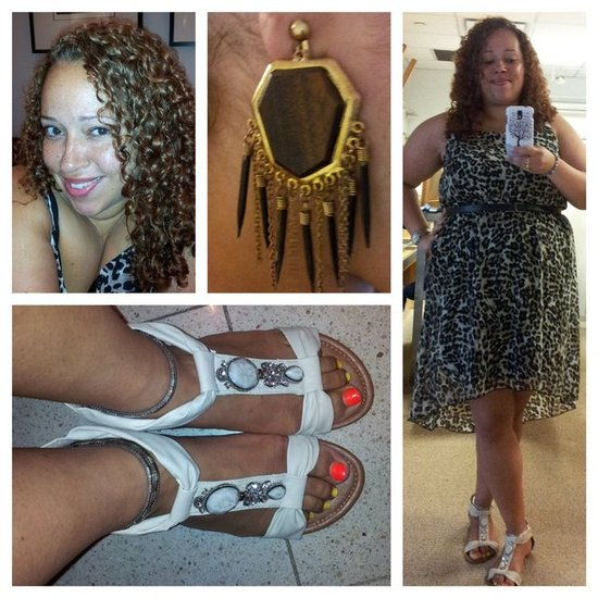 Dress - Forever21 Plus Sandals - Easy Pickins Earrings - Fashion 2 Figure