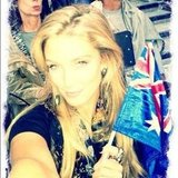 Delta Goodrem got into the Aussie Olympic spirit at the opening ceremony. Source: Instagram user deltagoodrem
