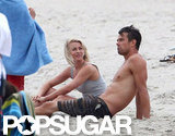 Julianne Hough took a seat next to Josh Duhamel.