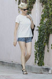 Michelle Williams smiled while out in LA.