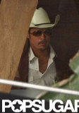 Brad Pitt wore a cowboy hat.