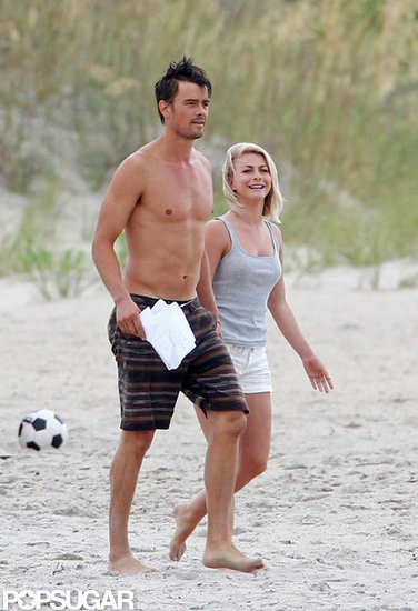Shirtless Josh Duhamel Shows Off His Six-Pack on Set