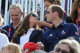 Kate and Will relaxed while watching cousin Zara Phillips.