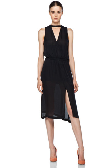 Maybe I'm crazy for thinking I could pull off the same dress (different shade) as Miranda Kerr, but I'm totally in love with this sexy and sleek A.L.C Kenya dress ($429). — Marisa Tom, associate editor