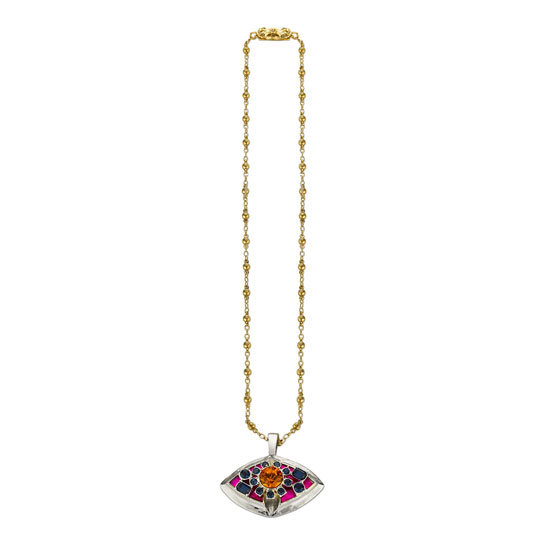 My hunt for a beautiful vintage-inspired piece is over thanks to this gorgeous Mawi Pink Talisman Pendant Necklace ($520). The multicolored jewels are simply magical. — Chi Diem Chau, associate editor