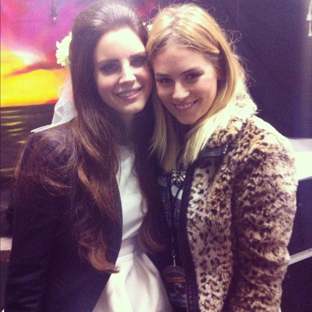 "Carissa Walford said she had the ""best interview ever"" with Lana Del Rey. Source: Instagram user cwalford"