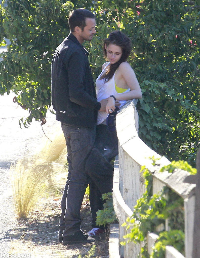Rupert Sanders and Kristen Stewart showed PDA in LA.