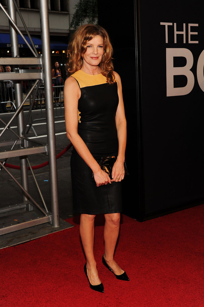 Rene Russo posed on the red carpet of the world premiere of The Bourne Legacy in NYC.