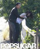 Rupert Sanders and Kristen Stewart smiled.