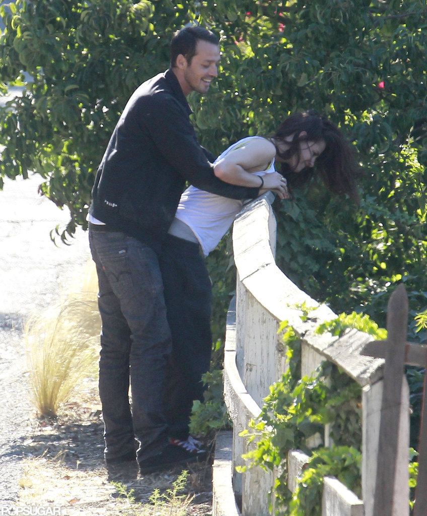 Rupert Sanders and Kristen Stewart smiled.