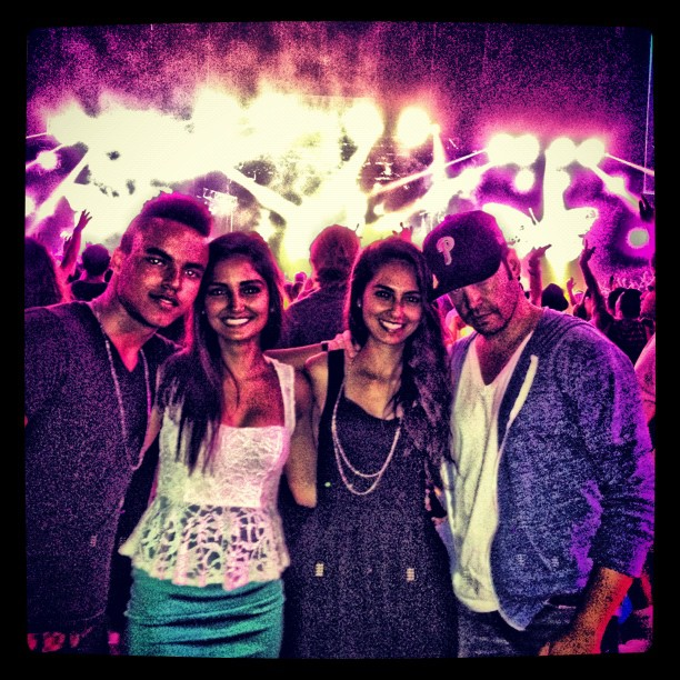 Connor Cruise took in a Kaskade concert with friends in LA. Source: Instagram user c_cruise