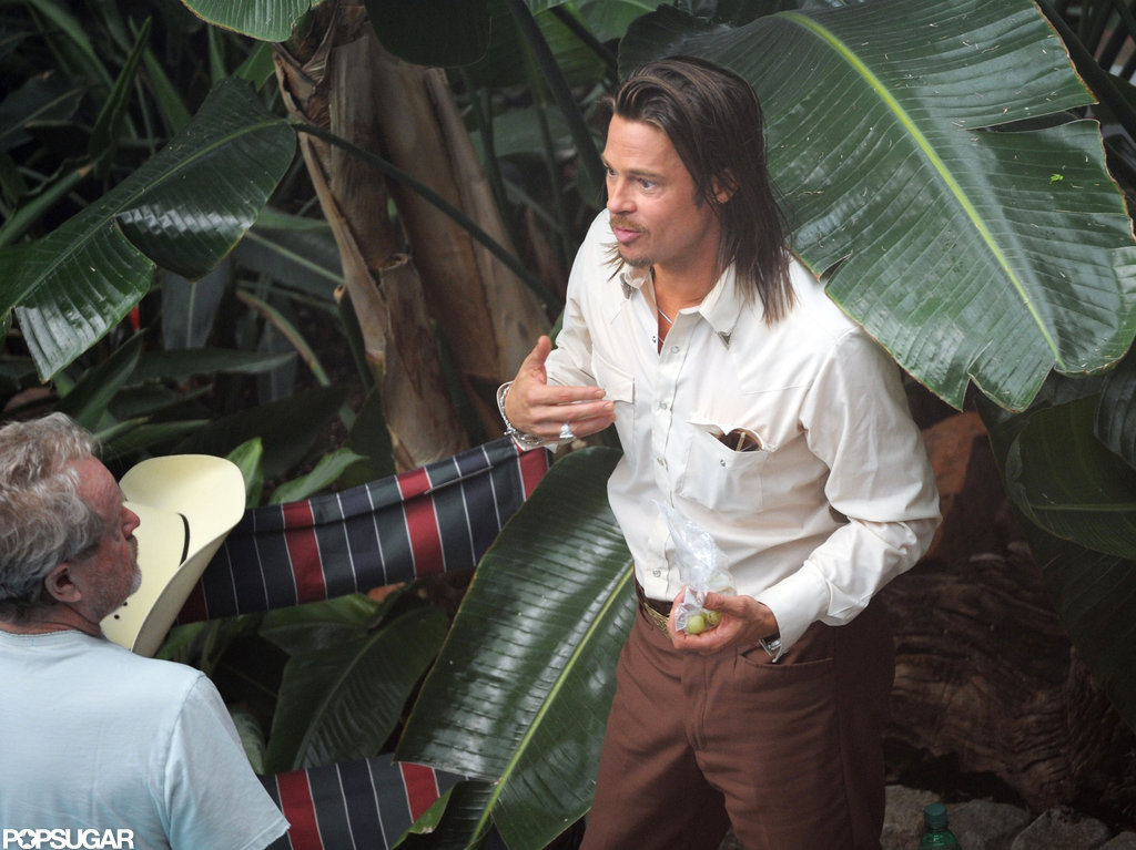 Brad Pitt shot a scene for The Counselor in London.