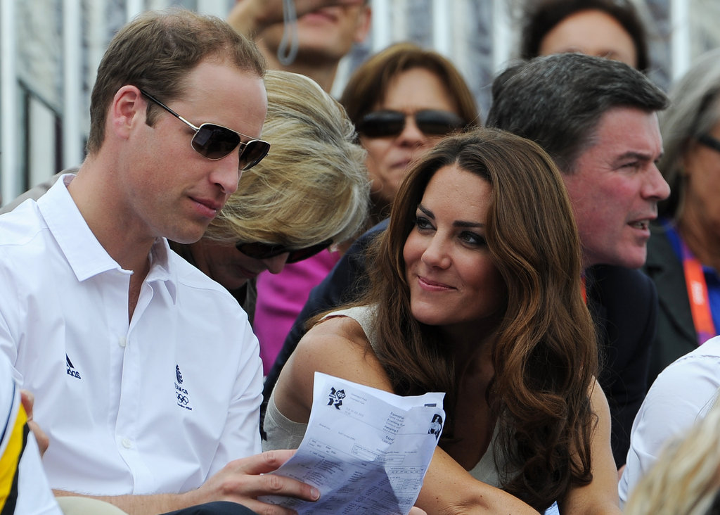 Kate Middleton checked out her husband, Prince William.