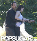 Kristen Stewart held hands with Rupert Sanders.