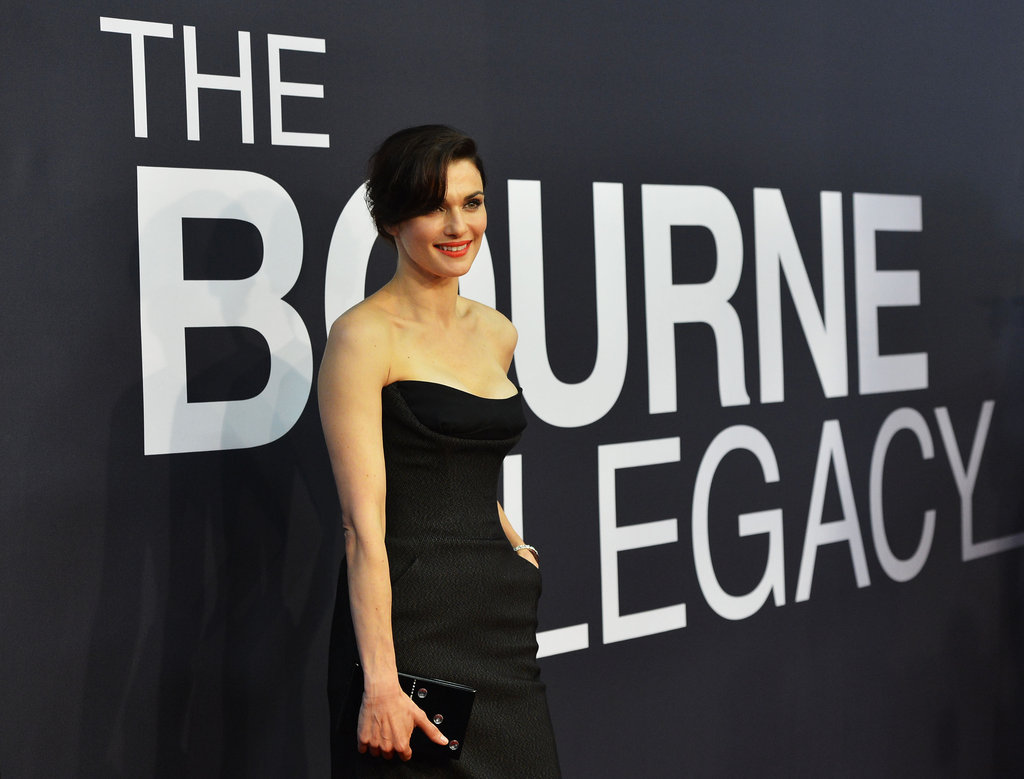 Rachel Weisz wore bright colored lips to the world premiere of The Bourne Legacy in NYC.