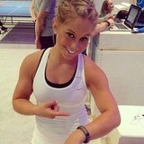 Shawn Johnson shared a photo from the Olympic Games. Source: Instagram user shawnjohn08