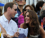 Prince William and Kate Middleton laughed.