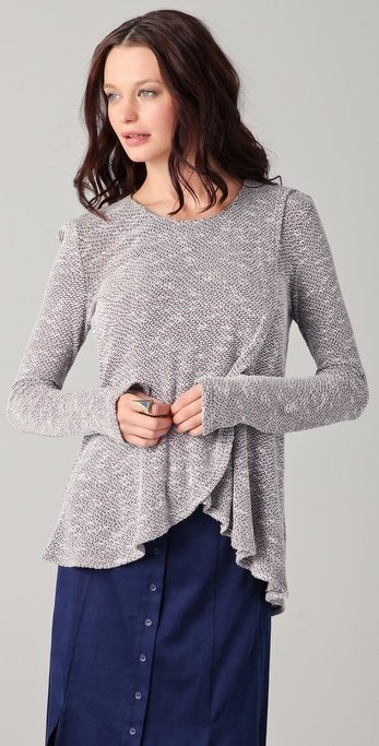 Just a hint of ruffles, and this knit takes on a more whimsical feel that's perfect for offsetting with more structured pieces. Aiko Terese Top ($102)