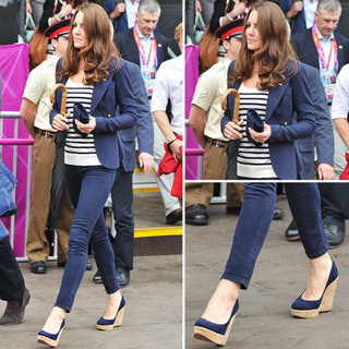 Kate Middleton in Navy Blazer at Olympics 2012