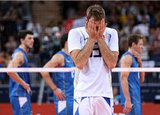 Italy's Dragan Travica was overcome after his team beat Argentina.