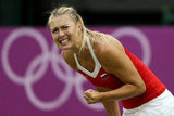 Maria Sharapova of Russia made a face during the second round of women's singles tennis.