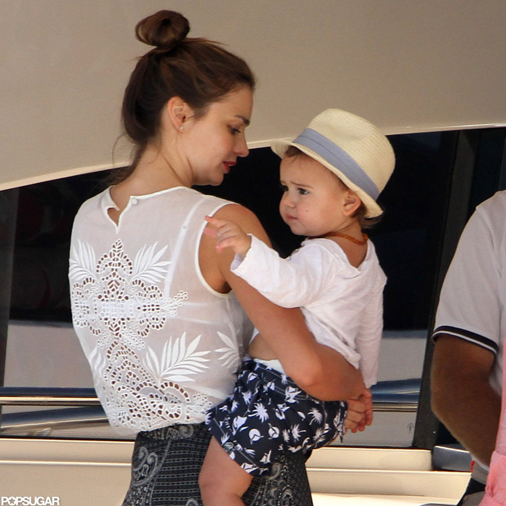 Miranda Kerr was out in Australia with Flynn.
