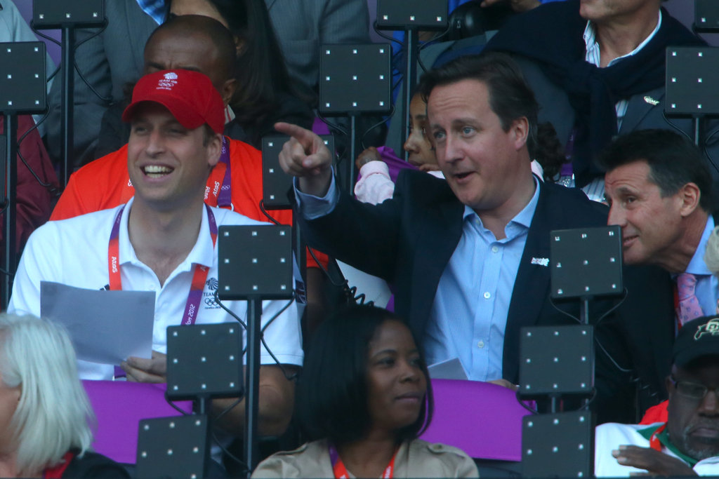 Prince William and David Cameron enjoyed themselves.