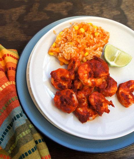 Adobo marinated shrimp